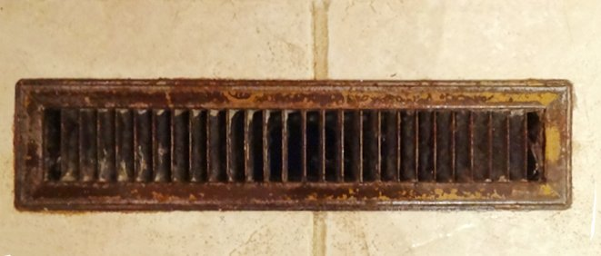 Giving old air vents new life with special cleaning and refinishing