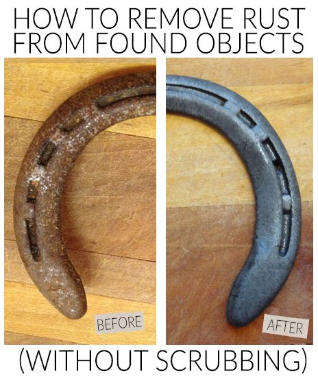 Easy DIY for dissolving rust from tools and antiques