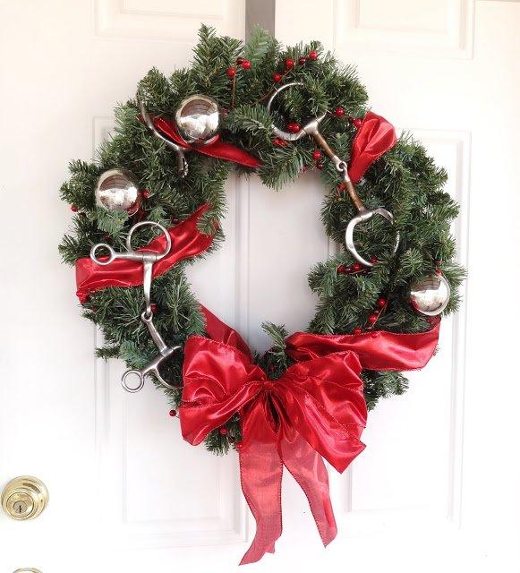 Equestrian Christmas Wreath