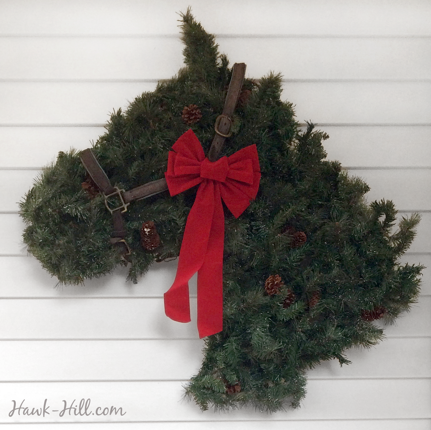Horse Head Shaped Greenery Wreath Instructions To Make