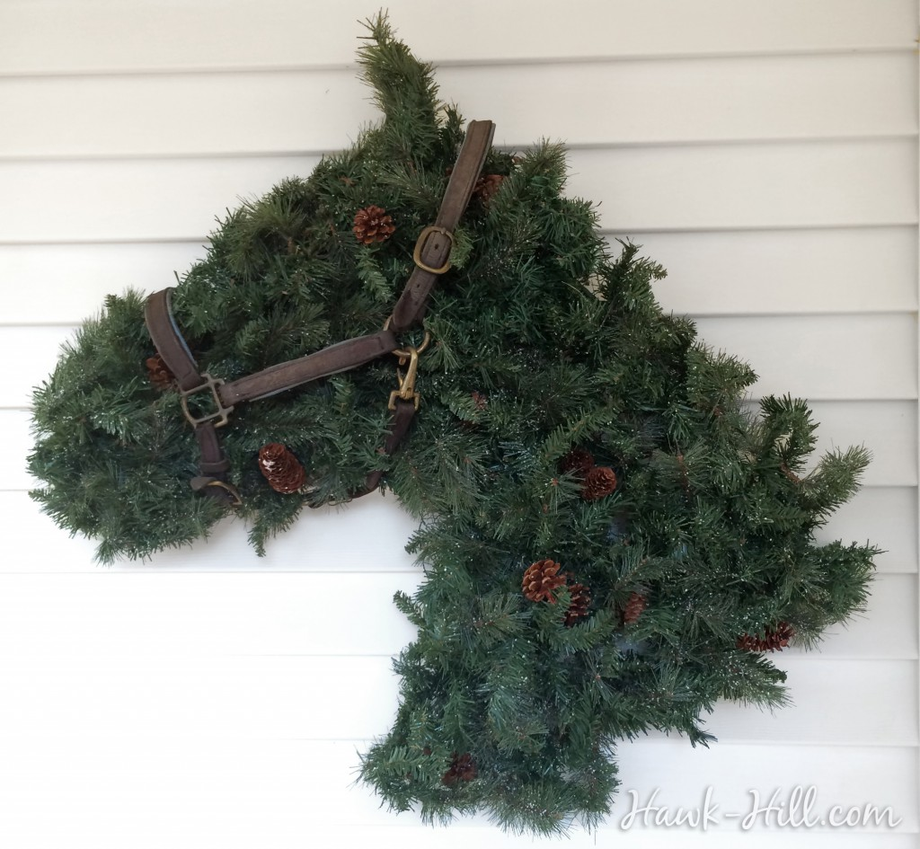 Step by Step Instructions for making a Horse Head Shaped Wreath