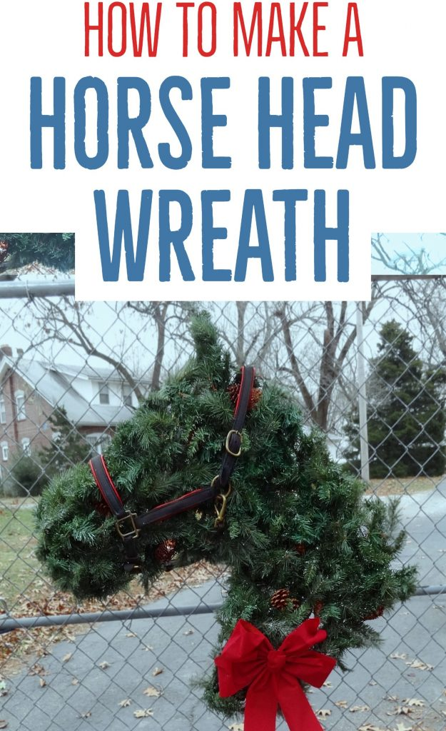 Follow these instructions to make a simple horse head wreath