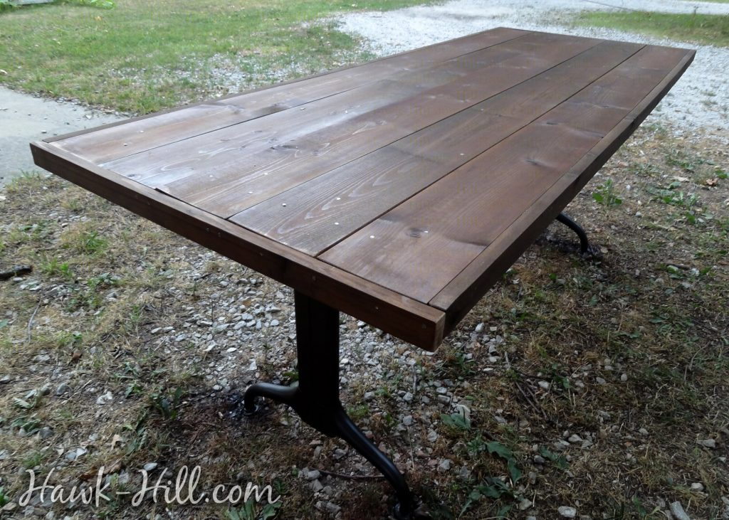 Vintage table with new solid wood tabletop DIY