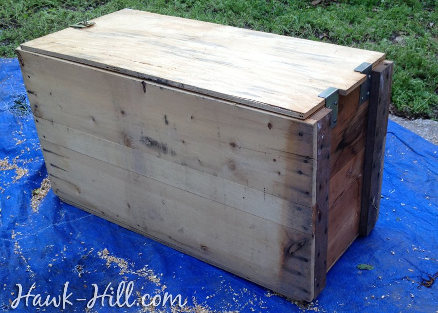 converting wood shipping crates to nesting boxes