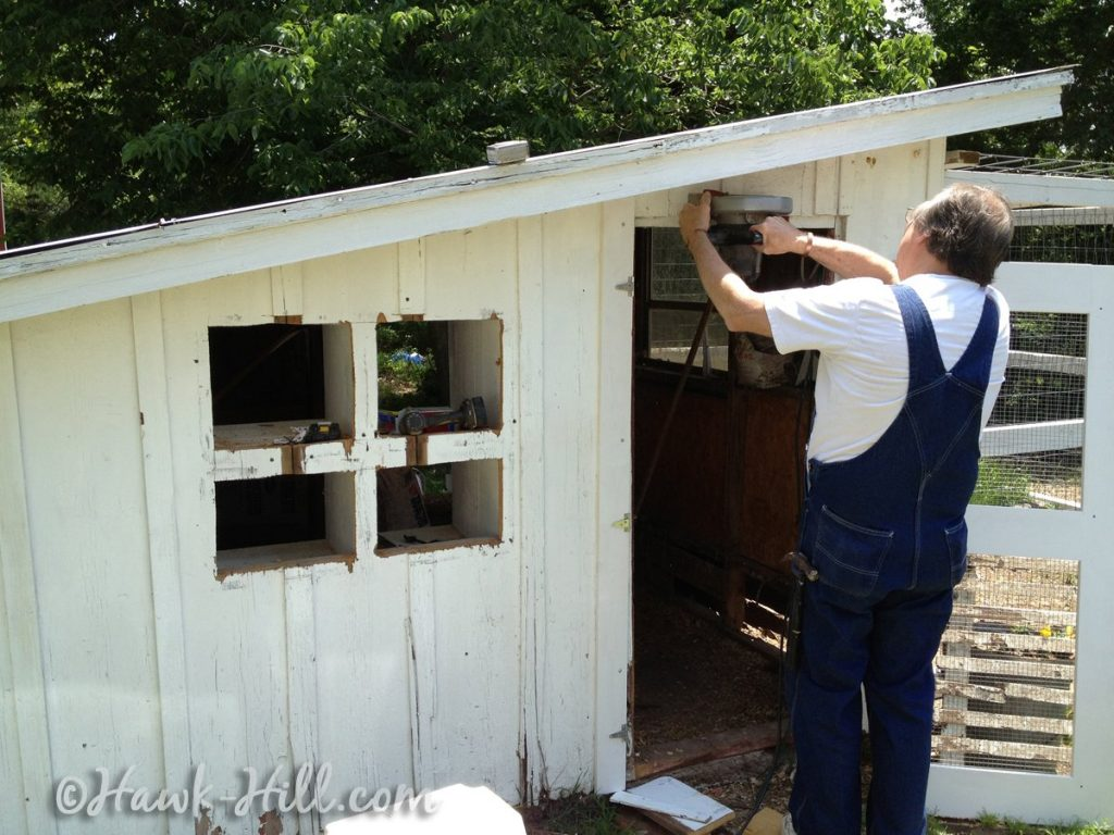 Adding Nesting Boxes to Old Chicken Coop