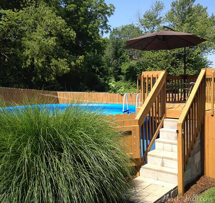 Backyard ideas with above ground pools - Ideas To Make A Cheap Above Ground Pool Look Luxurious