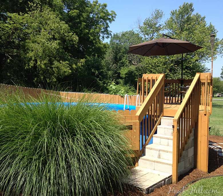 How to landscape an above ground pool