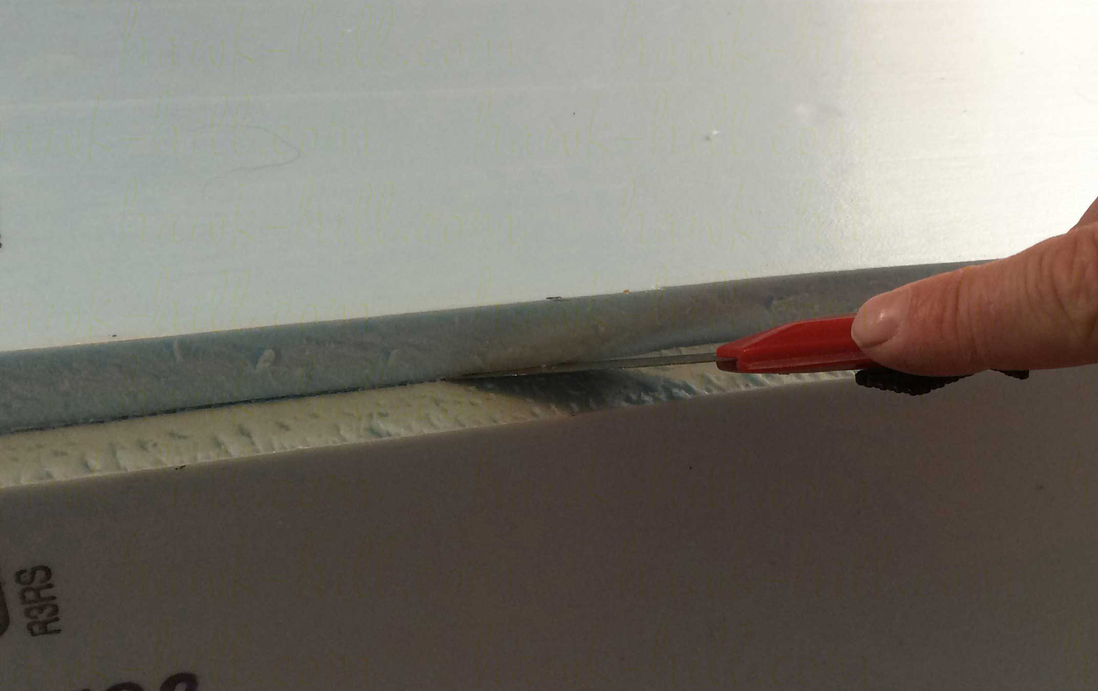 DIY dresser drawer dividers made from this foam board require careful cutting
