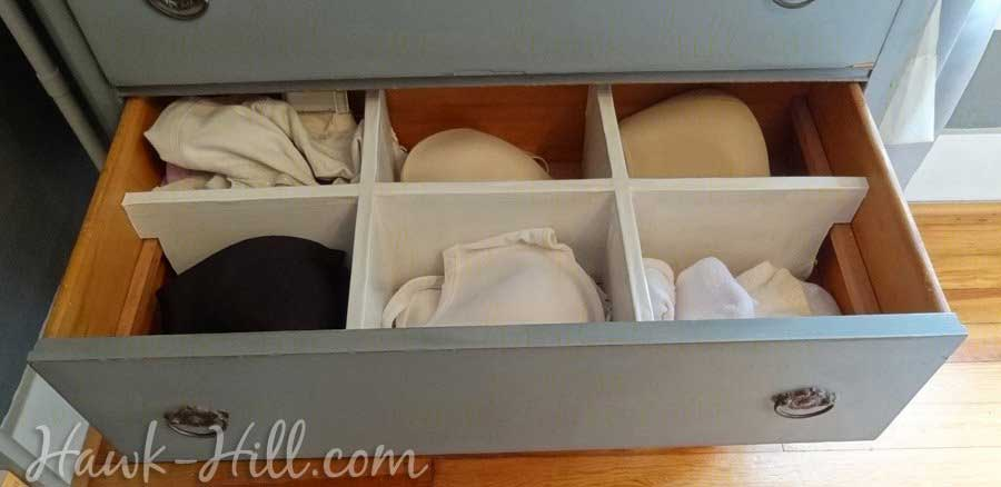 How to Make these lightweight Drawer Dividers for Pennies: Hawk-Hill.com