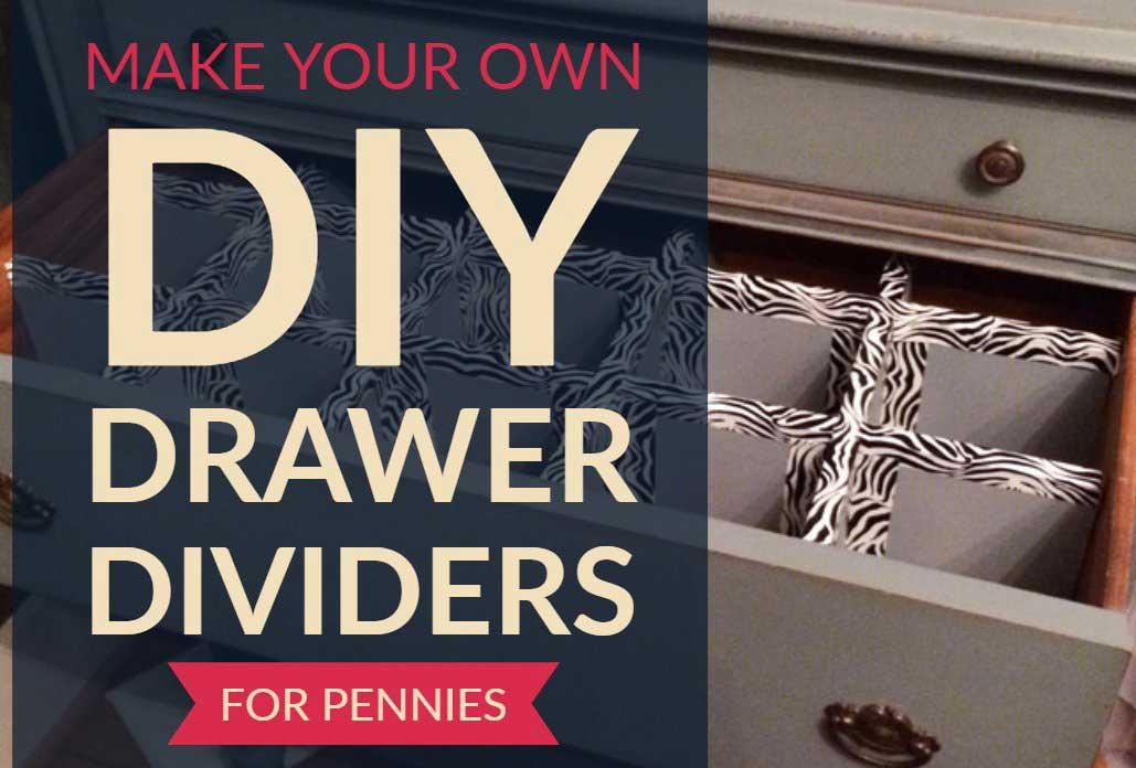 Follow along for making DIY dresser drawer dividers