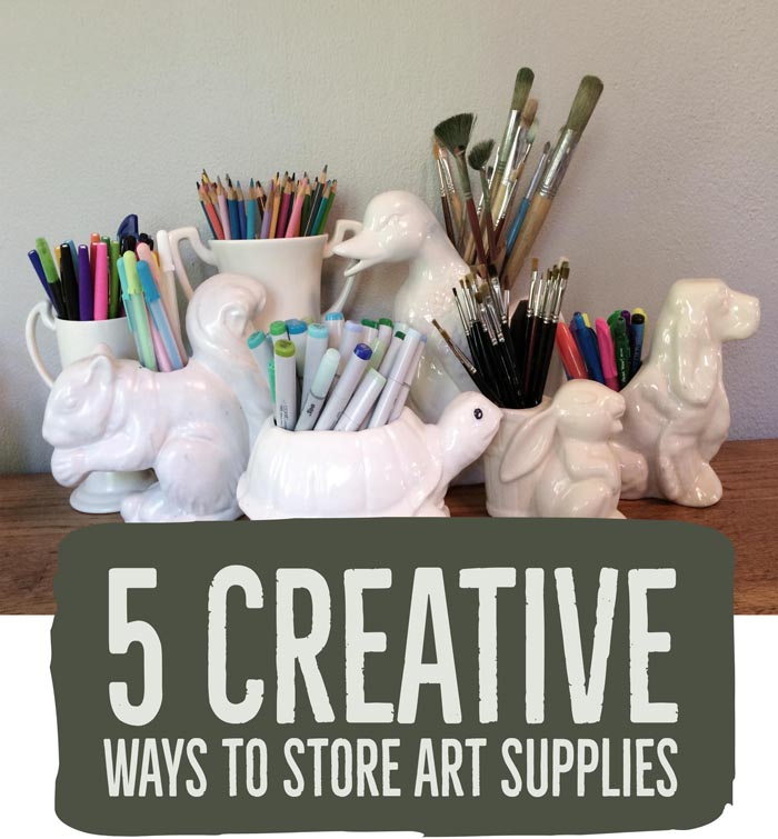 check out these fun approaches to Art Supply Organization