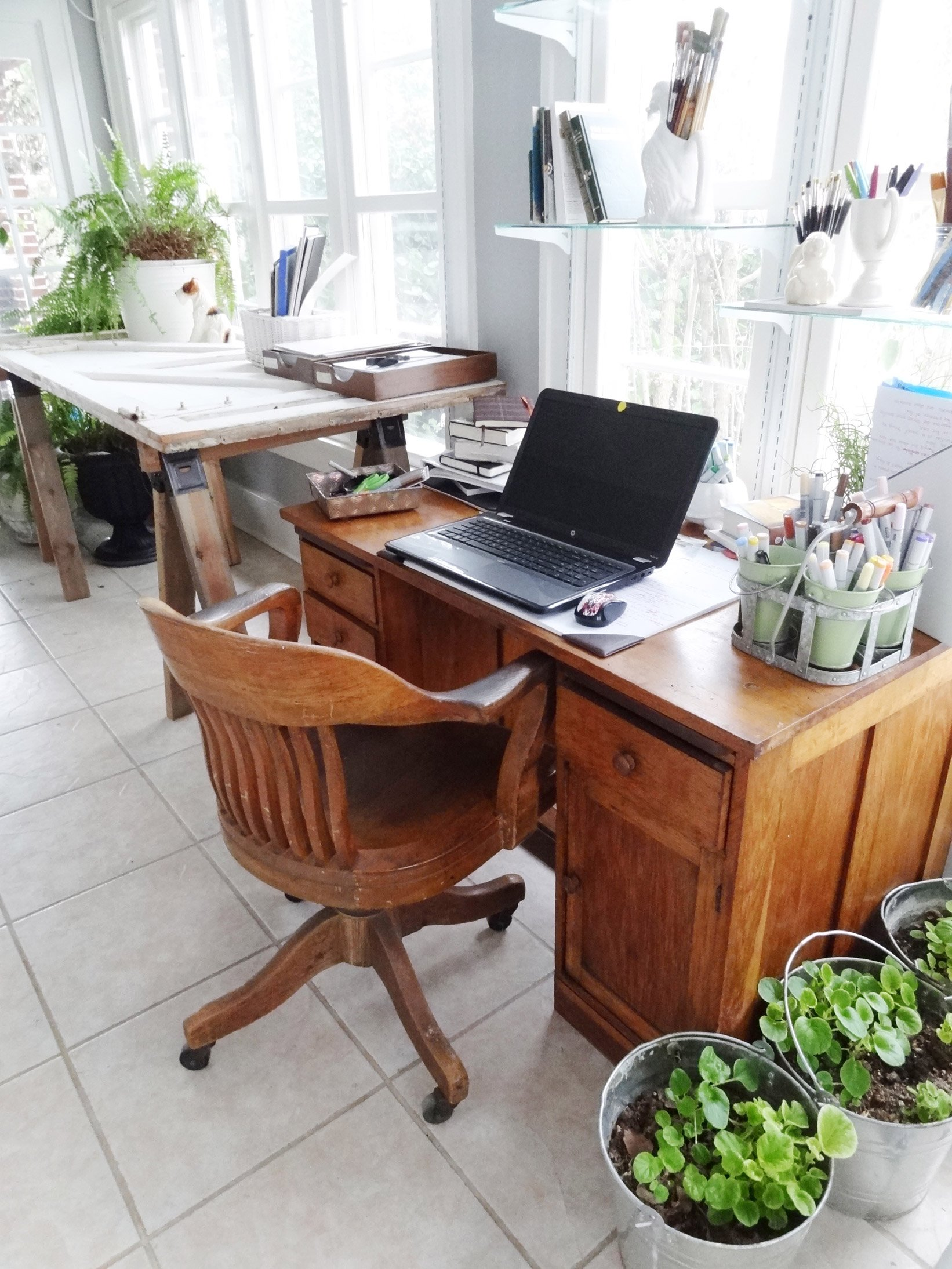 Awkward Porch to Sunny Studio - The Reveal (aka: Decorating a Long ...