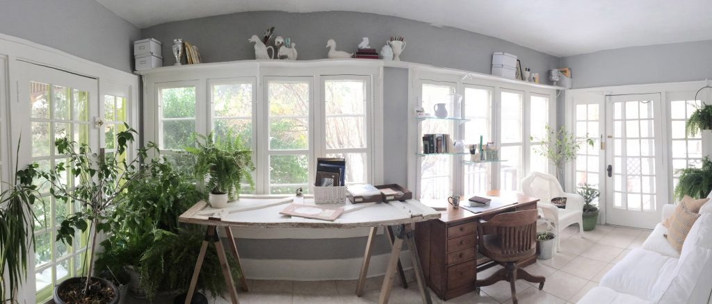 decorating a long and narrow sunroom