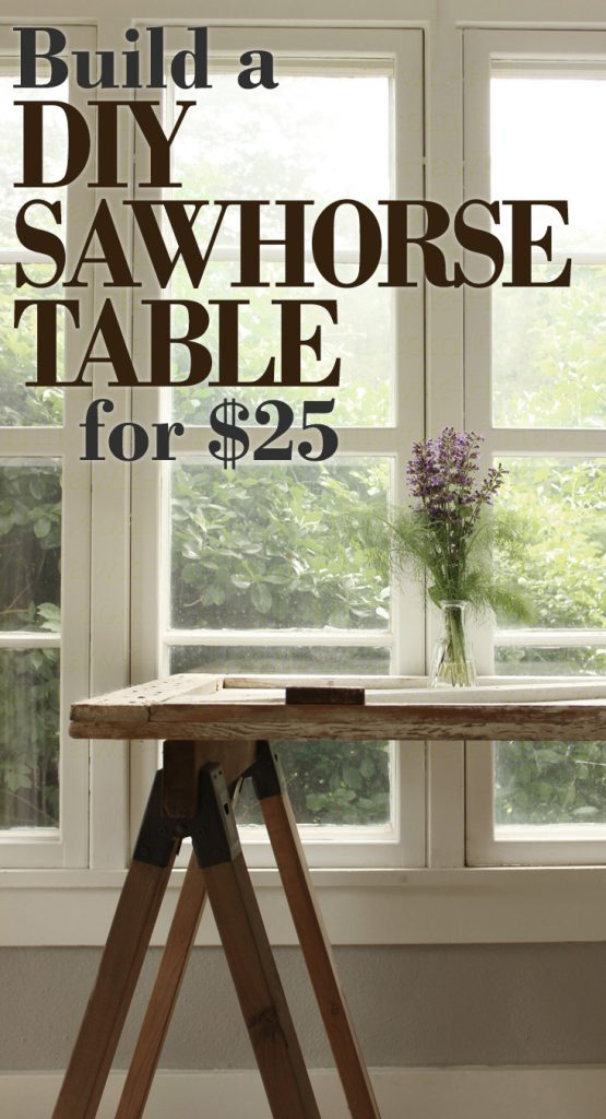 Instructions For Building A Stylish Diy Sawhorse Table For