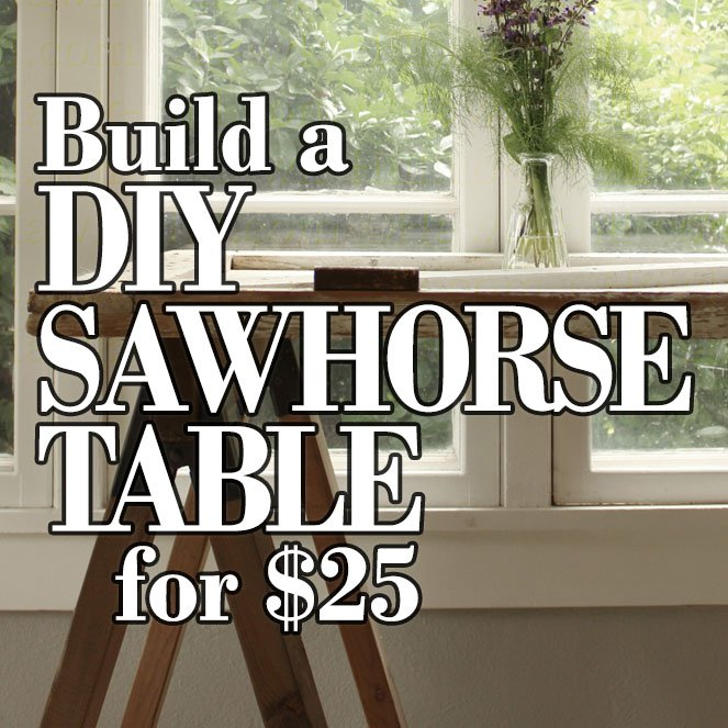 Instructions for building interior-quality sawhorse table legs for under $25.