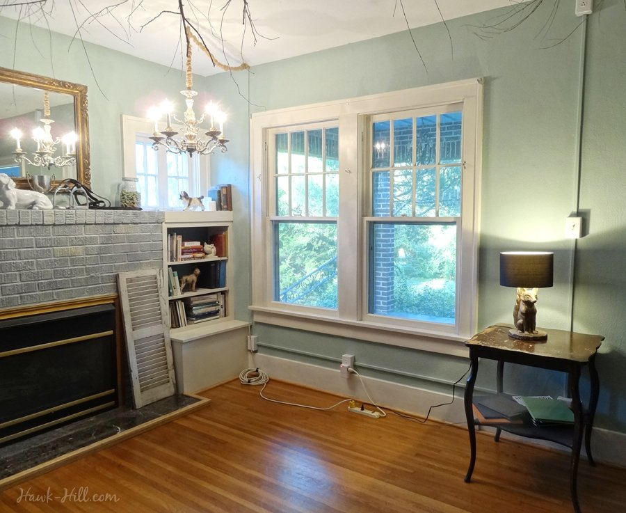 How to hang a chandelier in a room without wiring for an for Living room overhead lighting