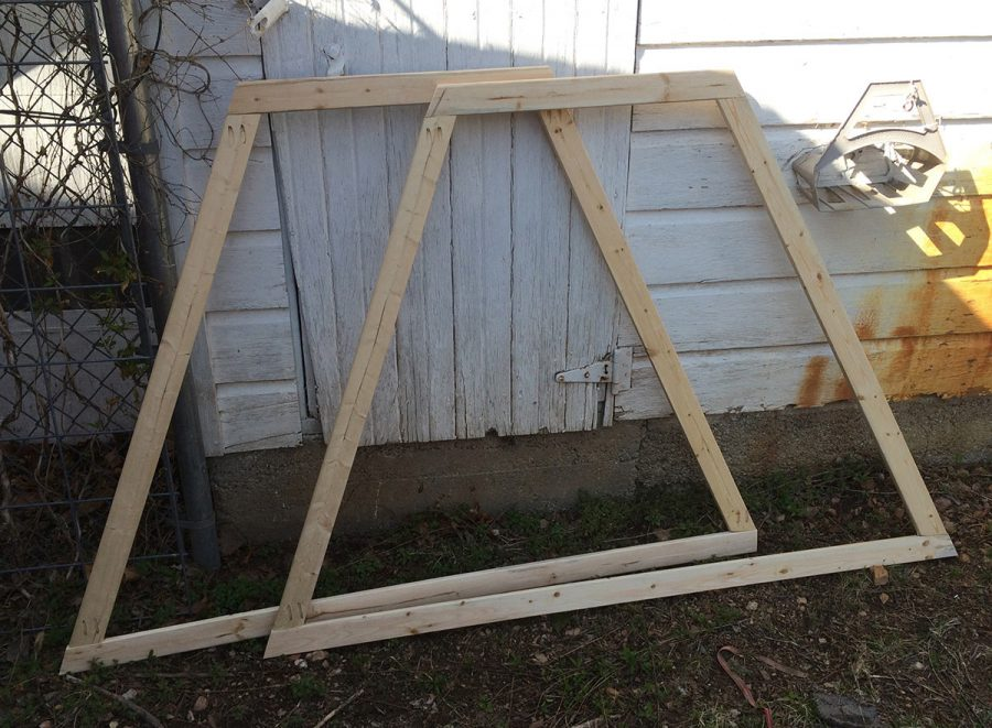 I created my chicken tractor from lightweight lumber because my biggest priority was being able to move it with one person