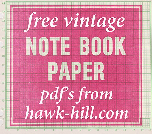 free vintage notebook paper templates, notebook covers, etc in pdf