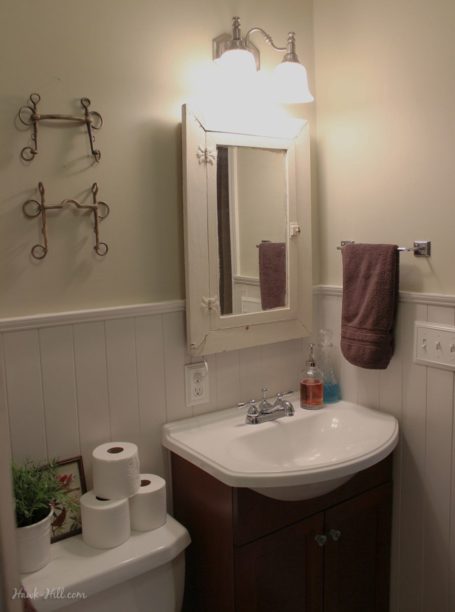 $300 Bathroom Renovation   Featuring Paneling Over Existing Tile
