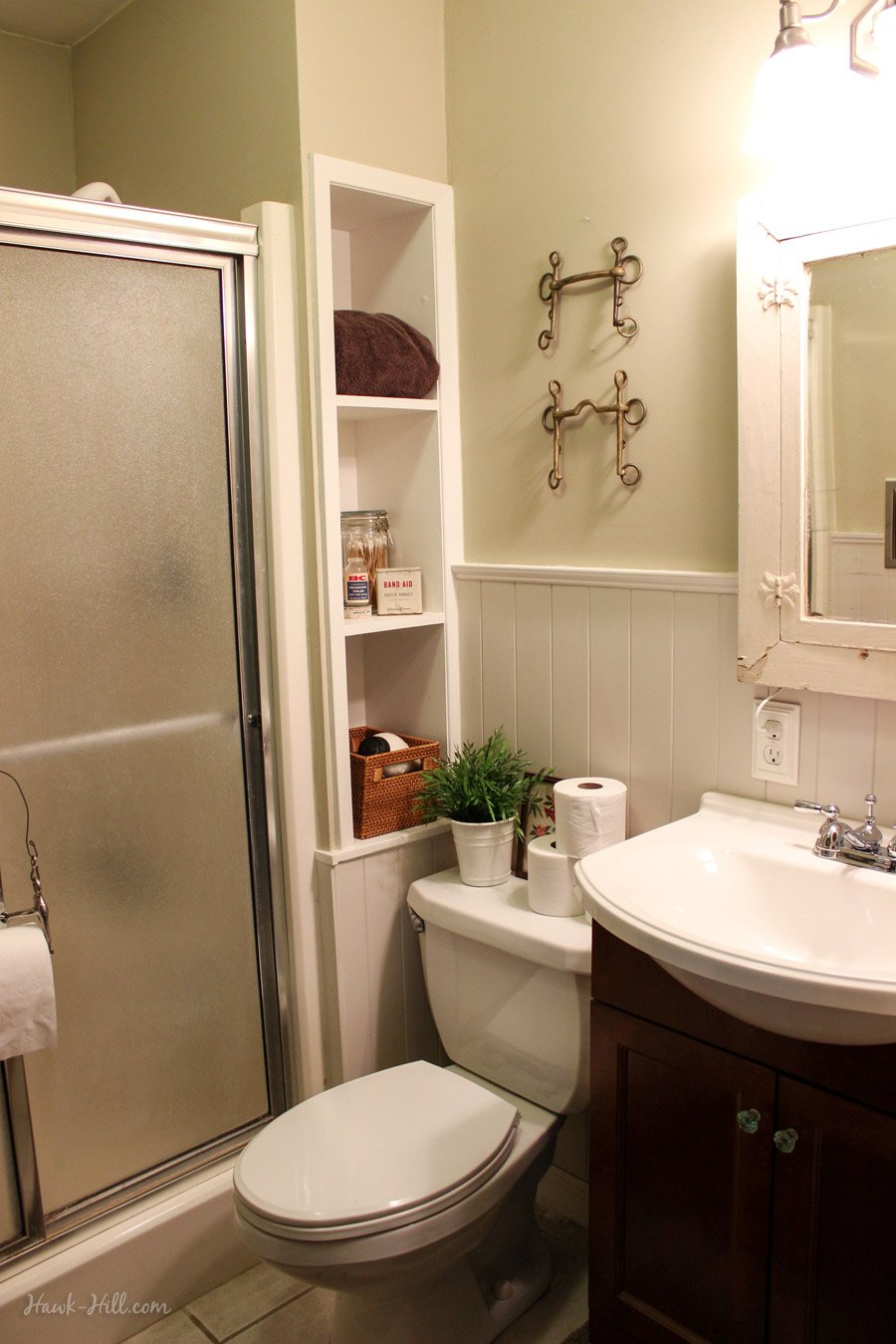 bathroom ideas with wainscoting 300 bathroom remodel installing shiplap or paneling 15941