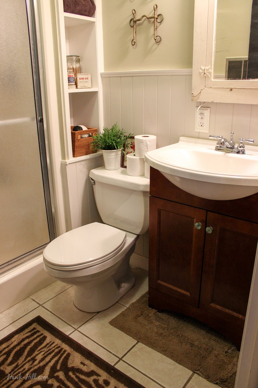 300 bathroom remodel installing shiplap or paneling over tile hawk hill. Black Bedroom Furniture Sets. Home Design Ideas