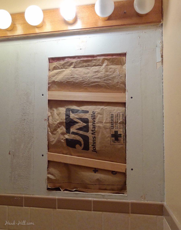 Bathroom Wall Repair 300 Bathroom Remodel Installing Paneling Over Tile Hawk Hill