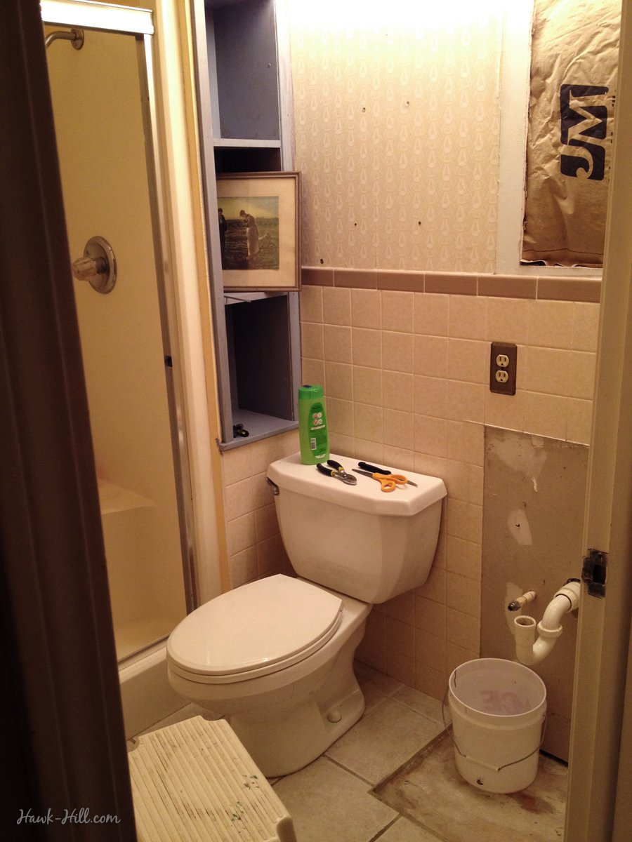 $300 Bathroom Remodel - Installing Shiplap or Paneling over Tile ...