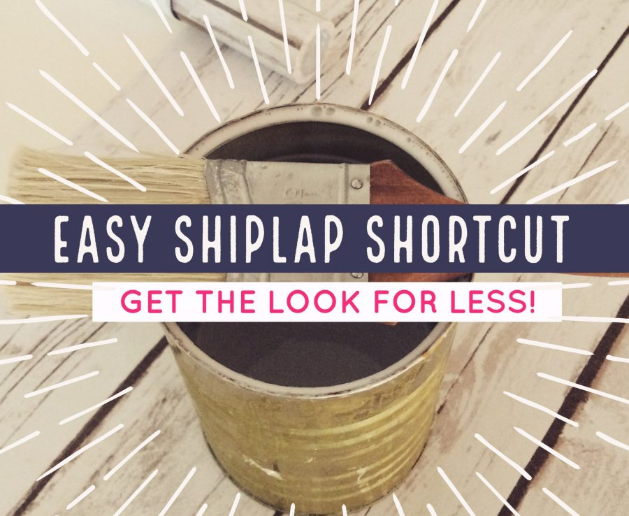 create the look of shiplap with a fraction of the effort and expense