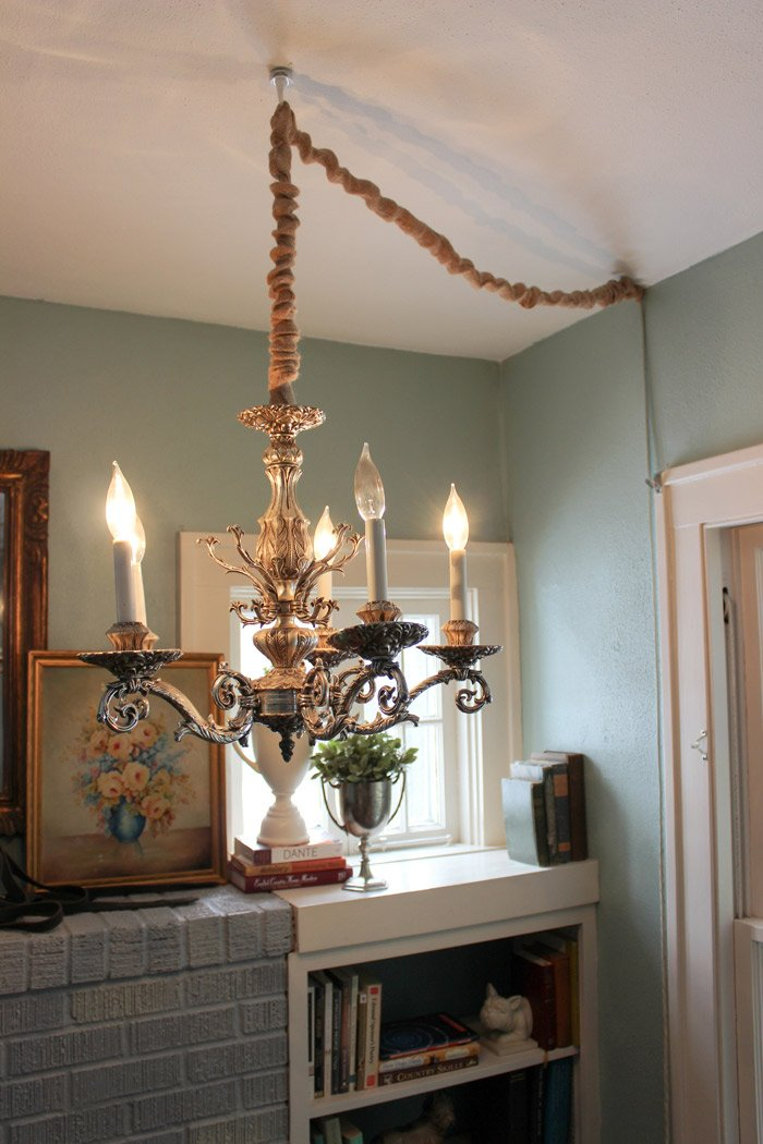 How to hang a chandelier in a room without wiring for an overhead bloghhchandupdt257sm greentooth Images