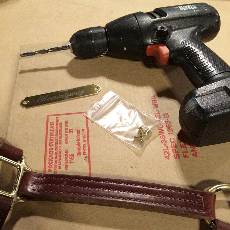 Attach a Horse Halter Plate without Specialty Tools 62