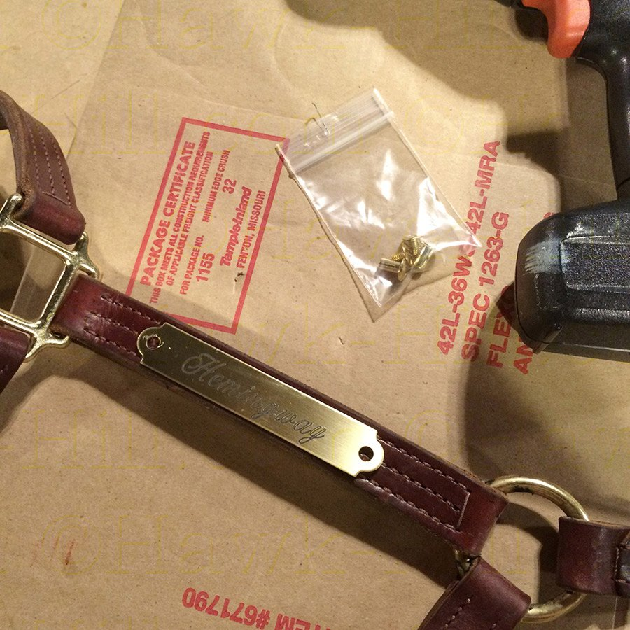 Attach a Horse Halter Plate without Specialty Tools 63