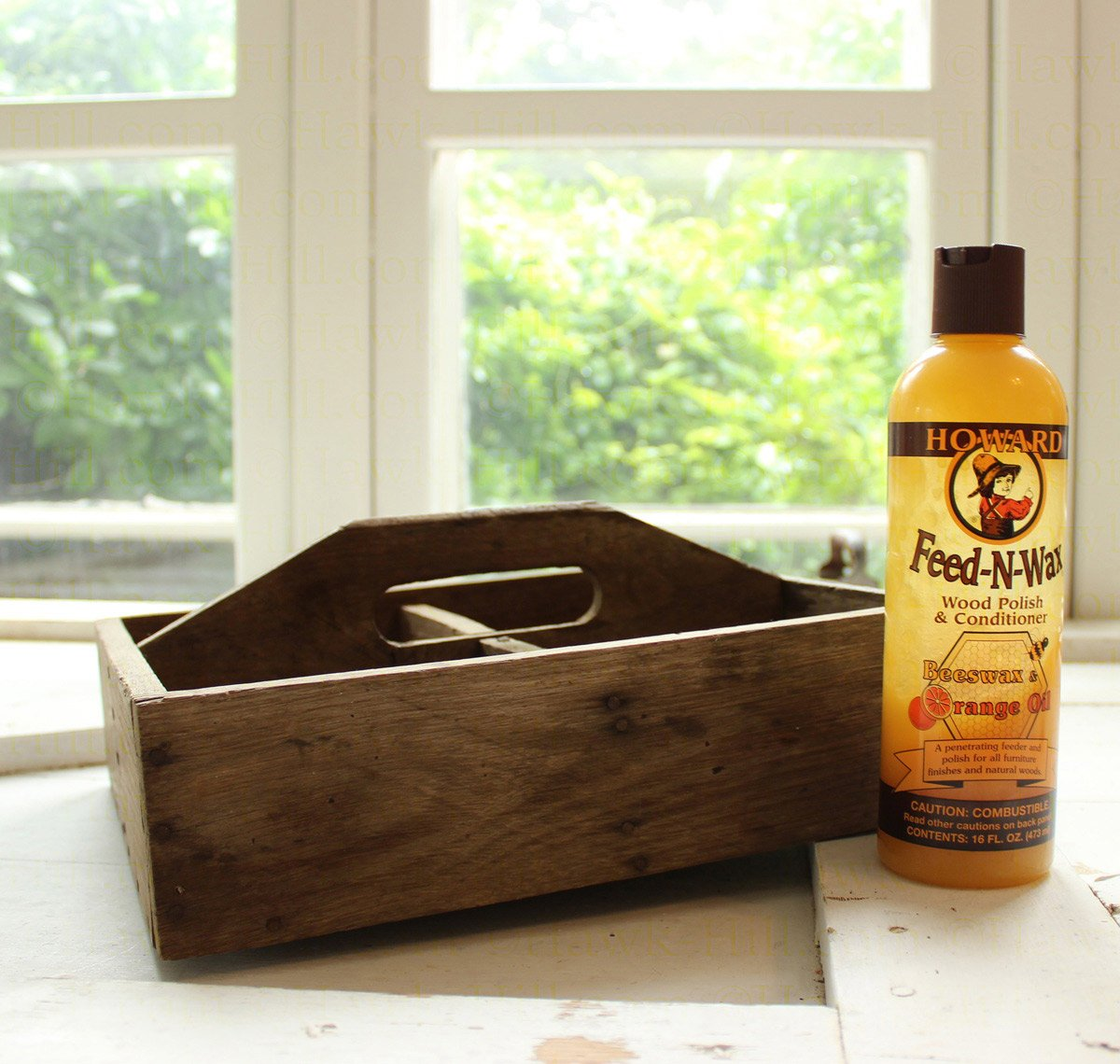 how to clean old wooden tool box