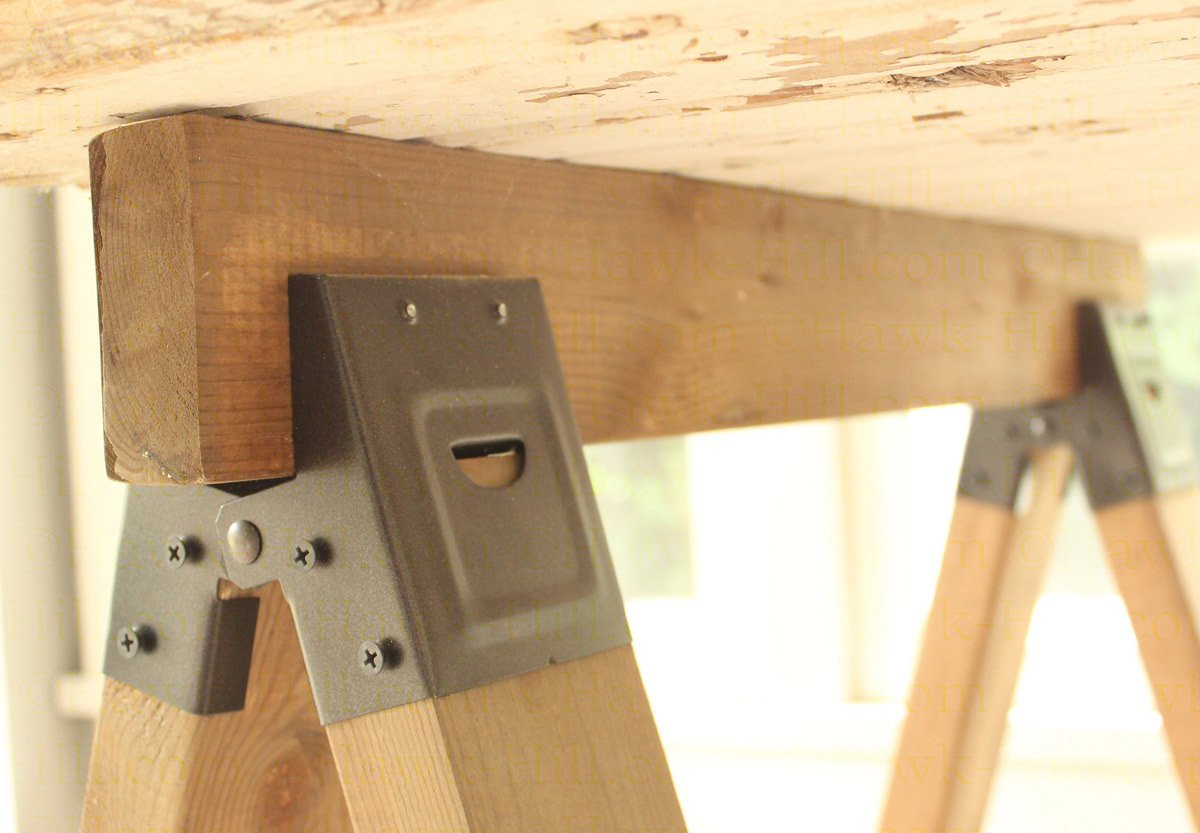 Instructions for Building a Stylish DIY Sawhorse Table for $25 - Hawk Hill