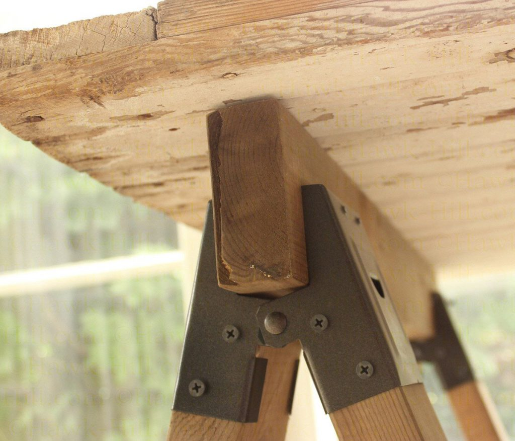 Instructions for a cheap and sturdy sawhorse table 885