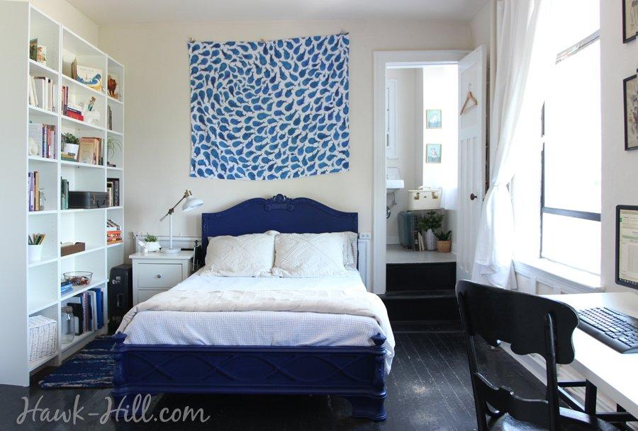 bookshelves in Studio Apartment