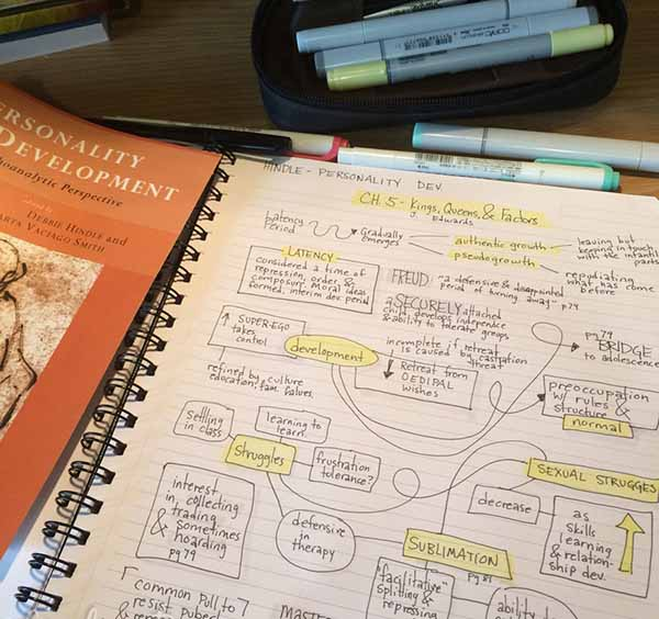 mind mapping concepts in a chapter
