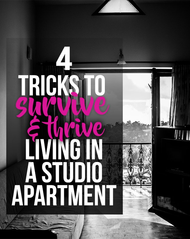 For tricks to make living in a tiny studio apartment a bit easier