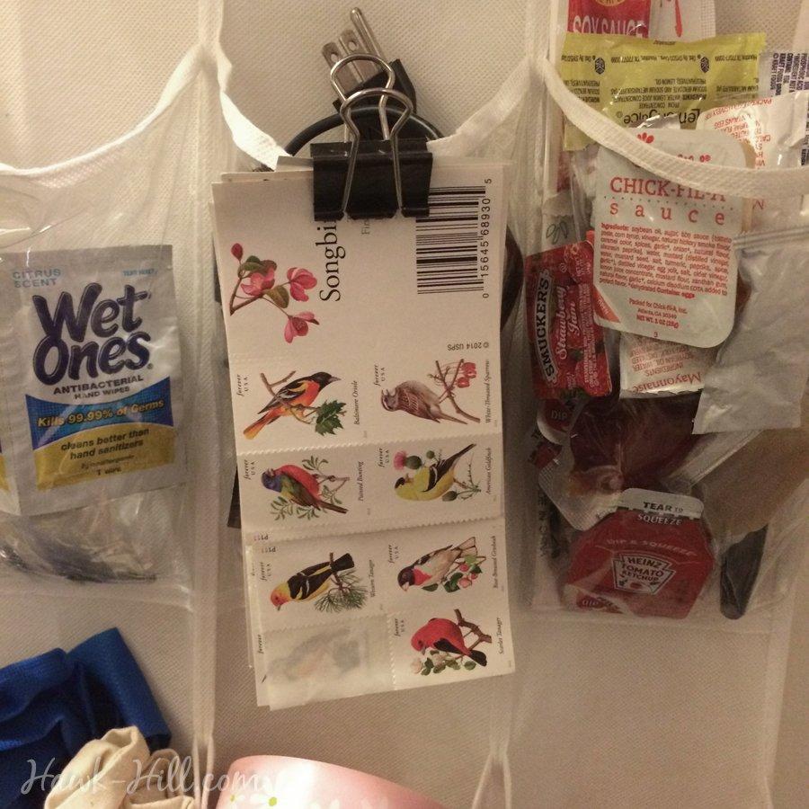 dorm storage binder clip shoe organizer trick 2