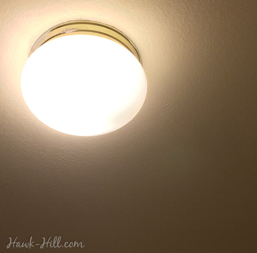 hiding ugly lighting in a rental
