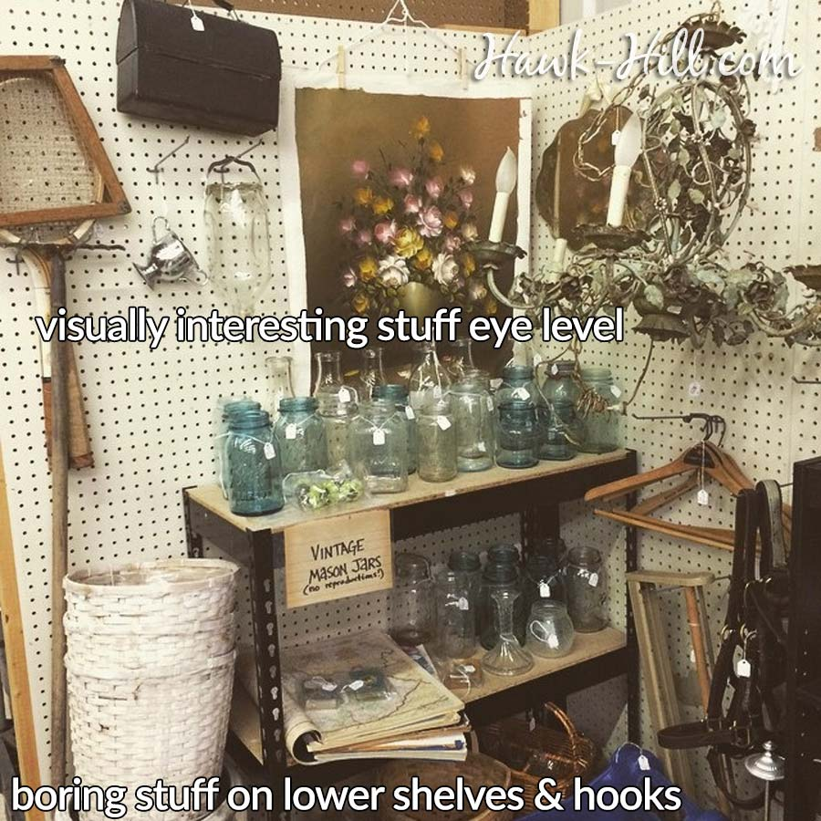 how to set up a flea market booth for profit