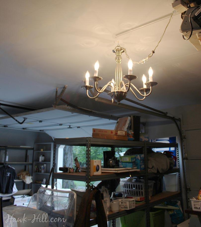 garage chandelier