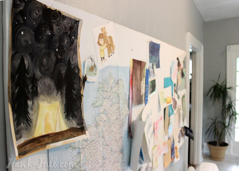 my real art studio idea pinboard 21