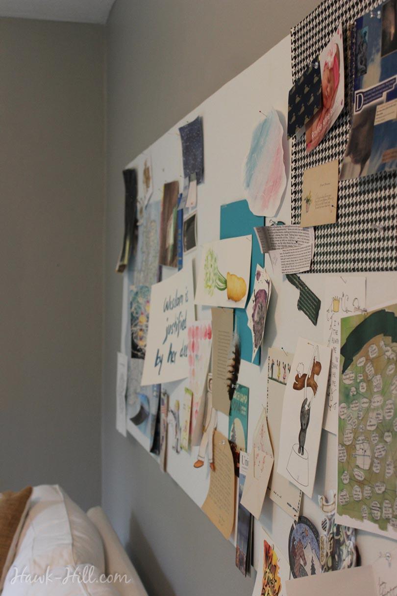 my real art studio idea pinboard 3