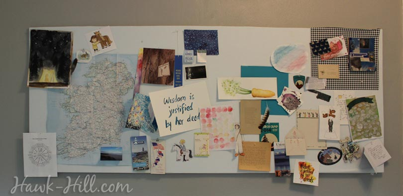 my real art studio idea pinboard 6