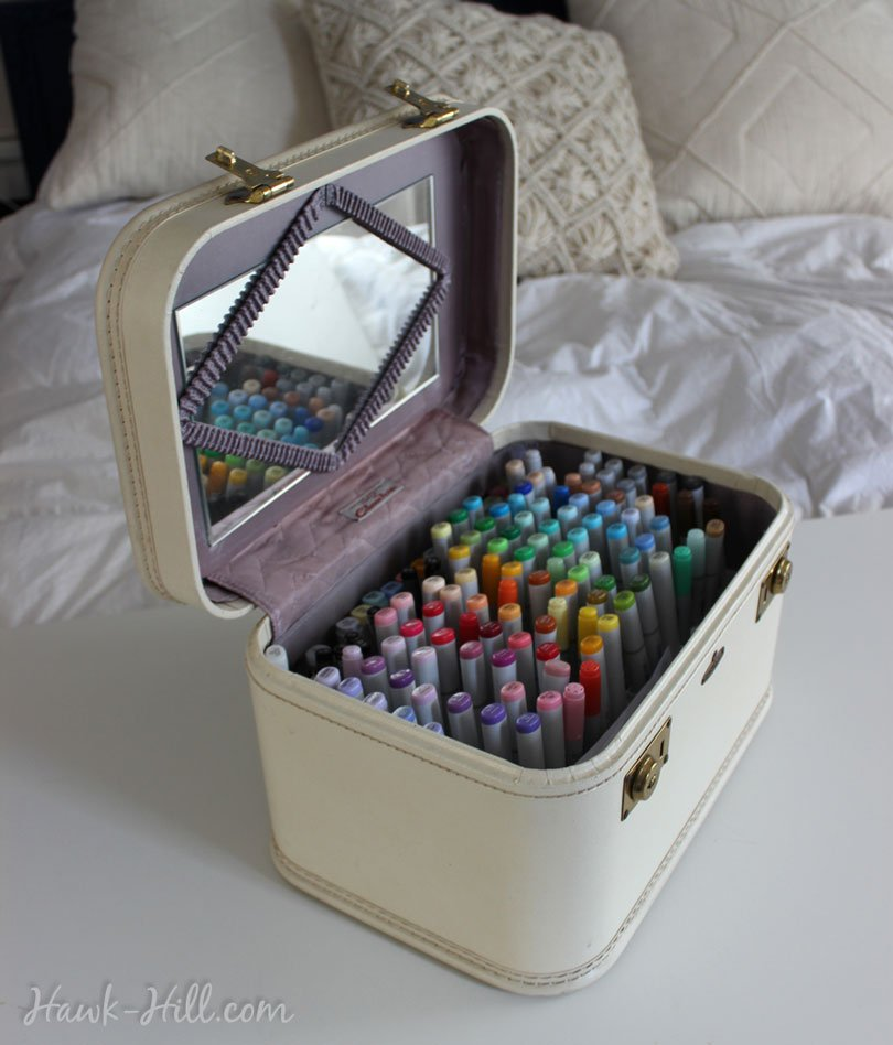 How To Convert A Vintage Cosmetic Suitcase Into An