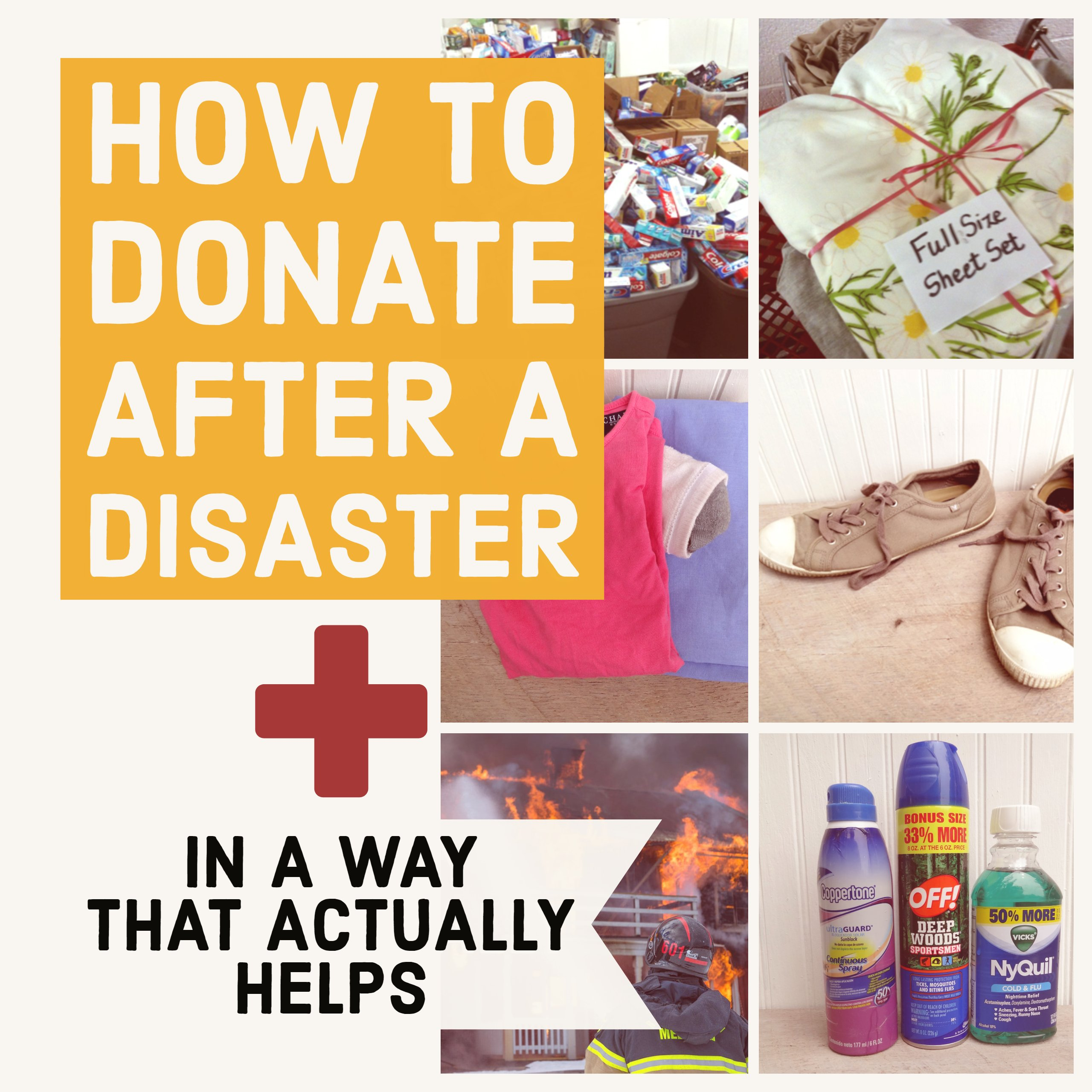 how to donate after a disaster