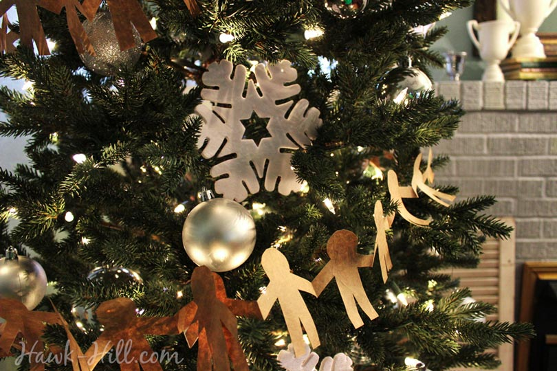 DIY paper doll christmas tree decorations