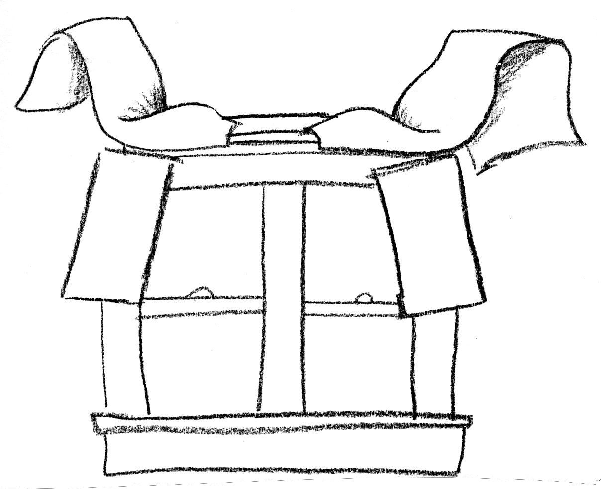 Though these pieces are shown cut, this is basically how you begin. Large, large curtains attached at the top to the rod and ready to style as they flow towards the floor.
