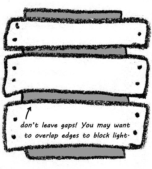 Doodle Illustration: Blocking the window