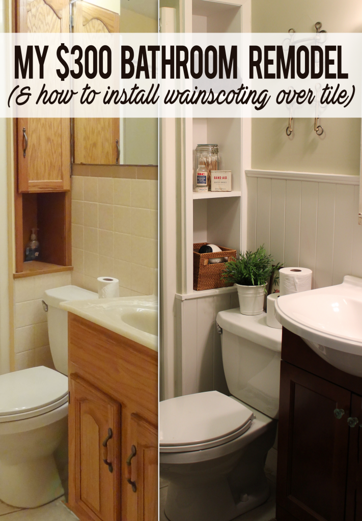 How I Remodeled A Tile Bathroom With 300 And No Demolition